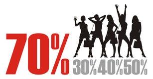 stor försäljning 5 Fotografering för Bildbyråer