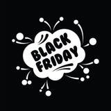 Stor försäljning femtio procent på svart illustration för fredag shoppingvektor Arkivbild