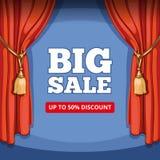 Stor försäljning, vektorbakgrund för specialt erbjudande för vektor illustrationer