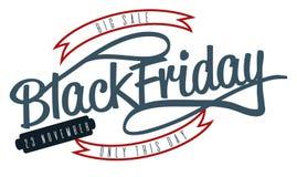 Stor försäljningssvart fredag upp till 75 procent av logo royaltyfri illustrationer