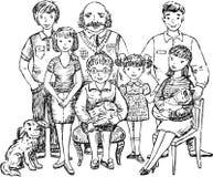 stor familj Royaltyfri Bild