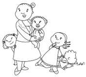 stor familj Fotografering för Bildbyråer