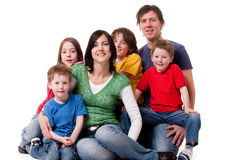 stor familj en Arkivfoton