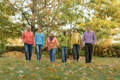 Stor familj som har gyckel royaltyfri foto