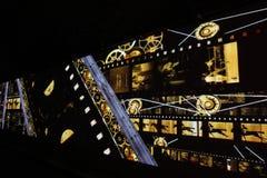 Stor festdes Lumieres 2014 Royaltyfria Bilder