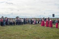 Stor festkonsert i hedern av årsdagen för th 536 av befrielsen av Ryssland från detTatar oket i den Kaluga regionen royaltyfri bild