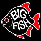 Stor fiskbakgrund Stock Illustrationer