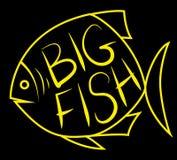 Stor fiskbakgrund för text stock illustrationer
