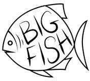 Stor fiskbakgrund för text vektor illustrationer