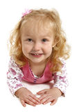 stor flicka little leende arkivbild