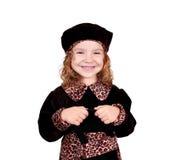 stor flicka little leende Royaltyfria Foton
