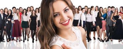 Stor folkmassa av affärsfolk Royaltyfri Foto