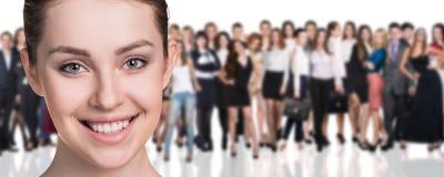 Stor folkmassa av affärsfolk Arkivbild