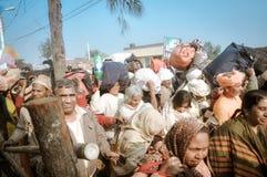 Stor folkmassa i västra Bengal Arkivbild