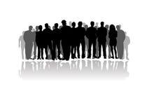 stor folkmassafolksilhouette Royaltyfri Bild