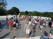stor folkmassavägg Arkivbilder