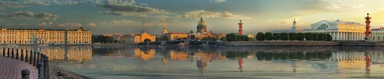 Stor-format panorama av St Petersburg arkivbild