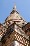 Stor forntida stupa Arkivbilder