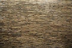 Stor forntida tegelstenvägg Arkivbild