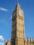 Stor framsida för klocka för förbudElizabeth torn, London Arkivbilder