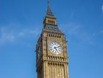 Stor framsida för klocka för förbudElizabeth torn, London Royaltyfria Foton
