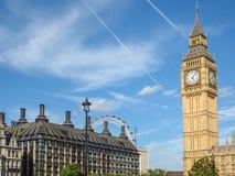 Stor framsida för klocka för förbudElizabeth torn, slott av Westminster, Londo Royaltyfri Bild