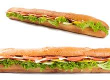 Stor fransk smörgås Arkivbilder