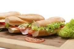 Stor fransk smörgås Arkivfoton