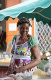 Stor frukt- & grönsakmarknad, Cayenne, Franska Guyana, FOD arkivbilder