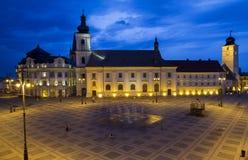 Stor fyrkant av Sibiu royaltyfria foton