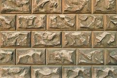 Stor gammal brun vägg royaltyfri bild