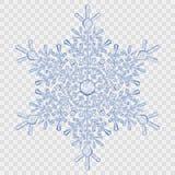 Stor genomskinlig crystal snöflinga stock illustrationer