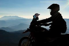 Stor geografi och utforskning för motorcyklister royaltyfri bild