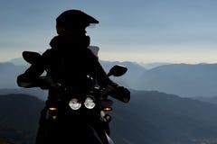 Stor geografi och utforskning för motorcyklister arkivfoton
