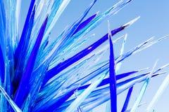 Stor glass skulptur Fotografering för Bildbyråer