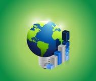 Stor global internationell affärsidé Arkivfoton