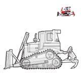 Stor grävare för svartvit tråd Royaltyfria Bilder