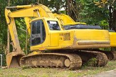 Stor grävskopa på konstruktionsplatsen Royaltyfri Fotografi