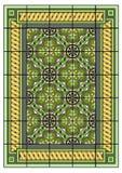 Stor grön matta Royaltyfri Foto