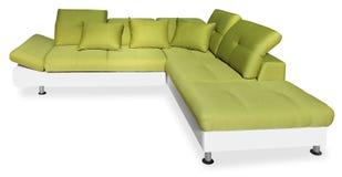 Stor grön soffa royaltyfri bild