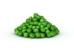 stor grön stapel för äpplen Arkivfoton