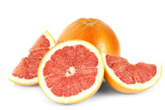 Stor grapefrukt och nytt skivat royaltyfri foto