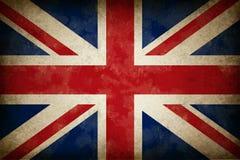 stor grunge för britain flagga Royaltyfri Fotografi