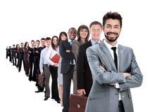 Stor grupp av businesspeople Arkivbild