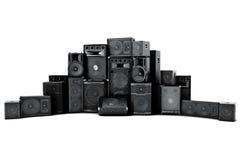 Stor grupp av högtalare i rad Royaltyfri Bild