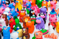 Stor grupp av leraleksaker Royaltyfria Bilder
