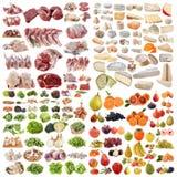 Stor grupp av mat Arkivbilder