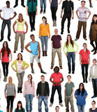 Stor grupp av ungdomarbakgrund royaltyfri fotografi