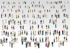 Stor grupp människor royaltyfri illustrationer