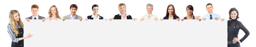 Stor grupp som ler affärsfolk Royaltyfria Foton
